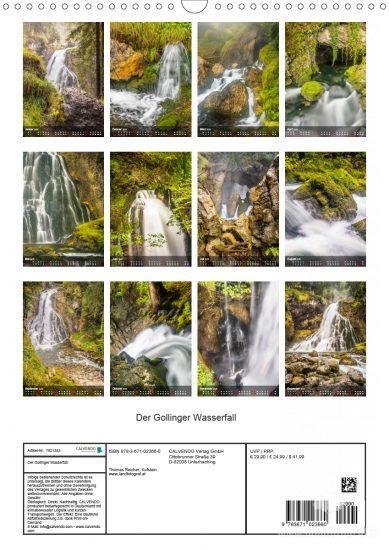 Kalender Gollinger Wasserfall 2020 - Übersicht