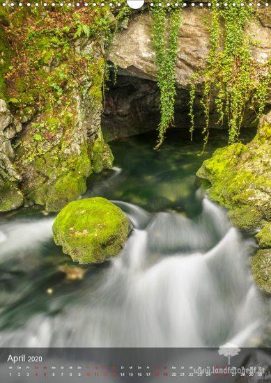 Kalender Gollinger Wasserfall 2020 - April